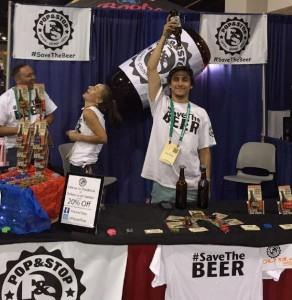 GABF beer upside down